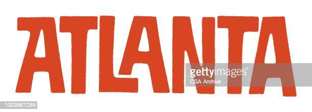 ilustrações, clipart, desenhos animados e ícones de de atlanta - atlanta