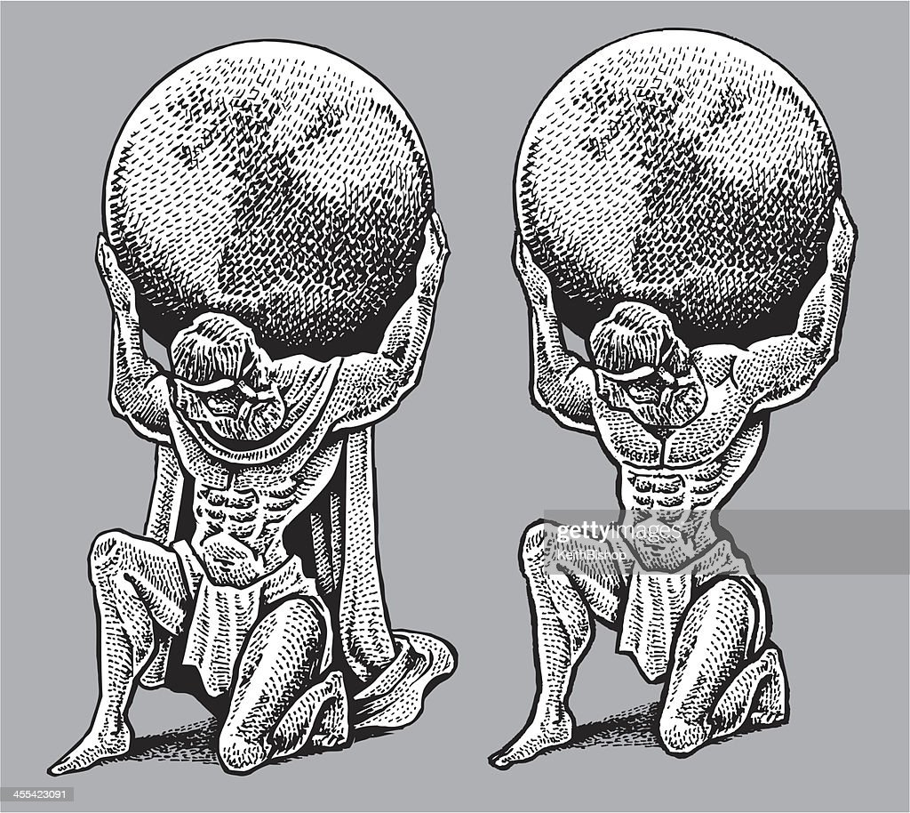 Atlas Holding Weight Of The World Vector Art | Getty Images