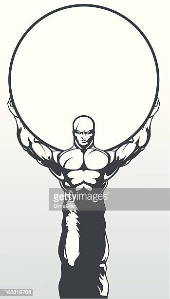 atlas - mythological character stock illustrations, clip art, cartoons, & icons