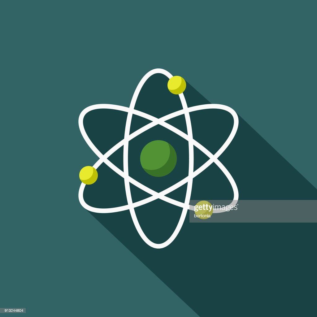 Atom Flat Design Environmental Icon