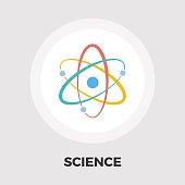 Atom icon flat