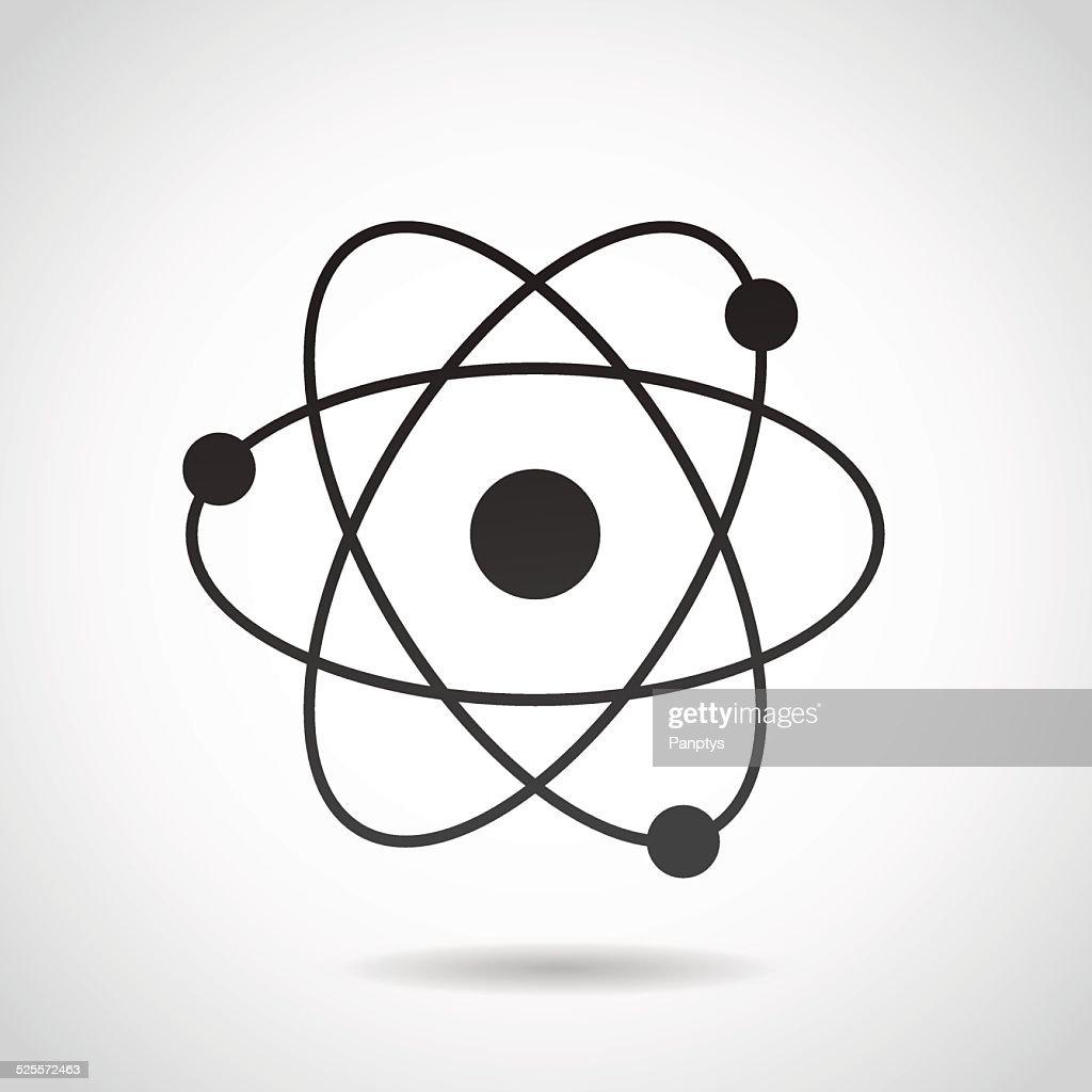 Atom icon isolated on white background.