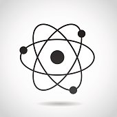 Atom icon isolated on white background.