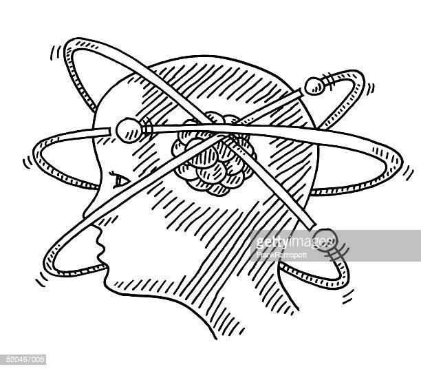 ilustraciones, imágenes clip art, dibujos animados e iconos de stock de atom molécula ciencias de concepto de ilustración - cerebral nuclei