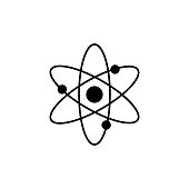 Atom molecule vector icon
