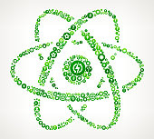 Atom  Nature and Environmental Conservation Icon Pattern