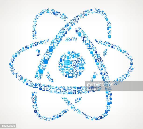 Atom Tech soporte Vector icono patrón