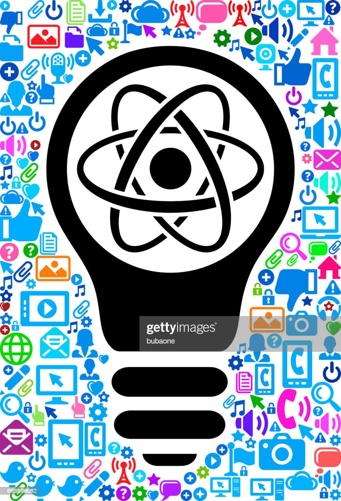 Atom Technology Web Vector Background Pattern