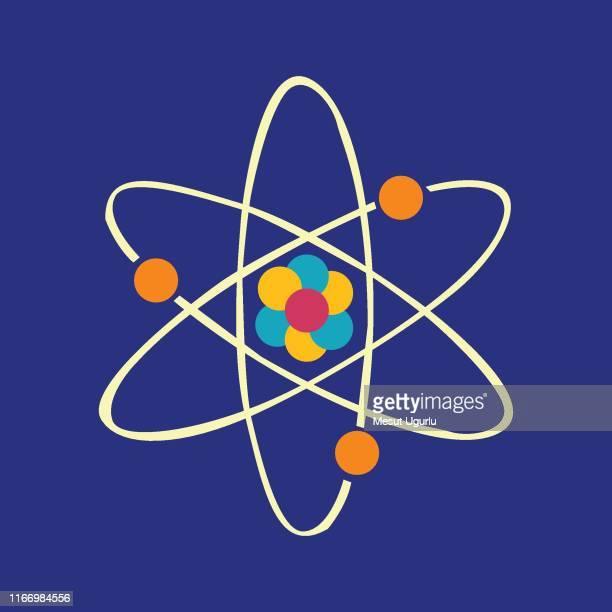 atom vector icon - atom stock illustrations