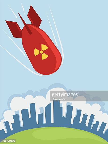 atomic bomb - radioactive contamination stock illustrations