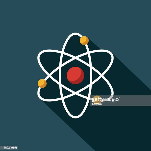 atomic energy icon - atom stock illustrations