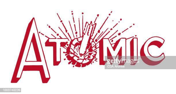 atomic - atomic bomb stock illustrations