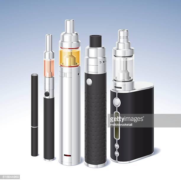 atomizer set - quitting smoking stock illustrations, clip art, cartoons, & icons