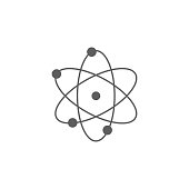 atoms icon. Element of education icon. Premium quality graphic design icon. Signs, outline symbols collection icon for websites, web design, mobile app