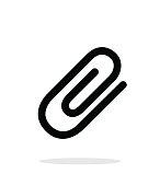 Attachment (Paper clip) icon on white background.