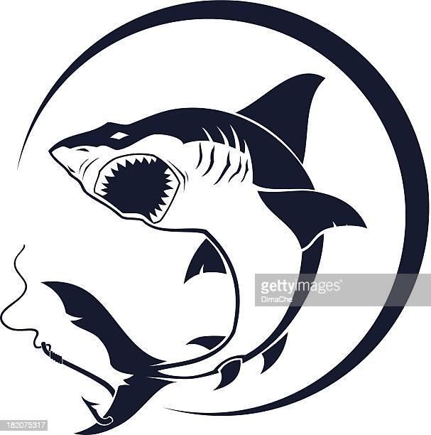 Attacking shark