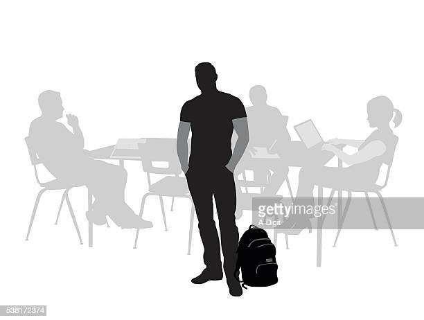 Assistente universitário masculino