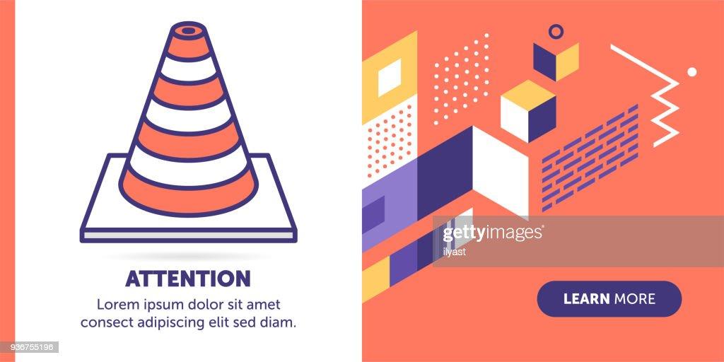 Aufmerksamkeit-Banner : Stock-Illustration