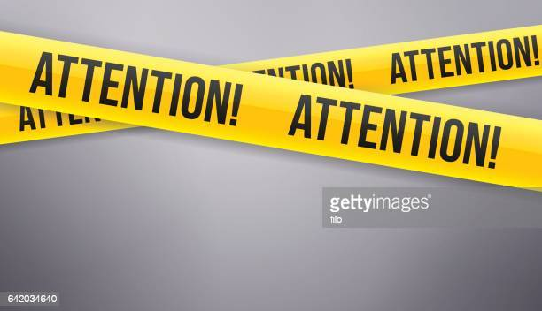 attention caution tape - concentration stock illustrations