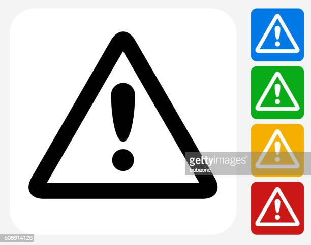attention sign icon flat graphic design - safety stock illustrations