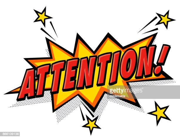 attention - concentration stock illustrations