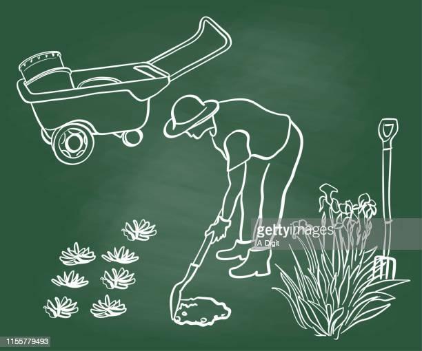 Aufmerksamer Gärtner Chalkboard