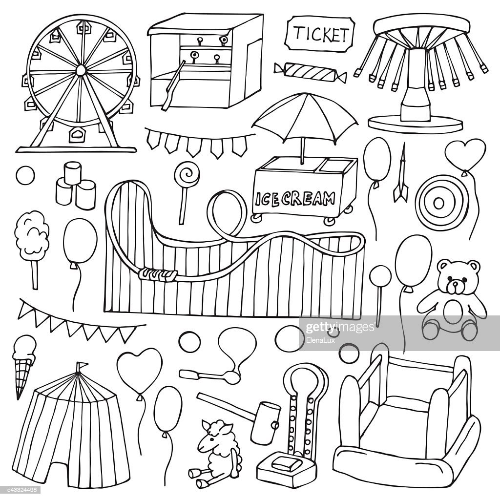 Attraction doodle Set