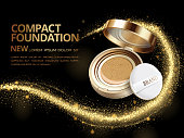 Attractive compact foundation ads