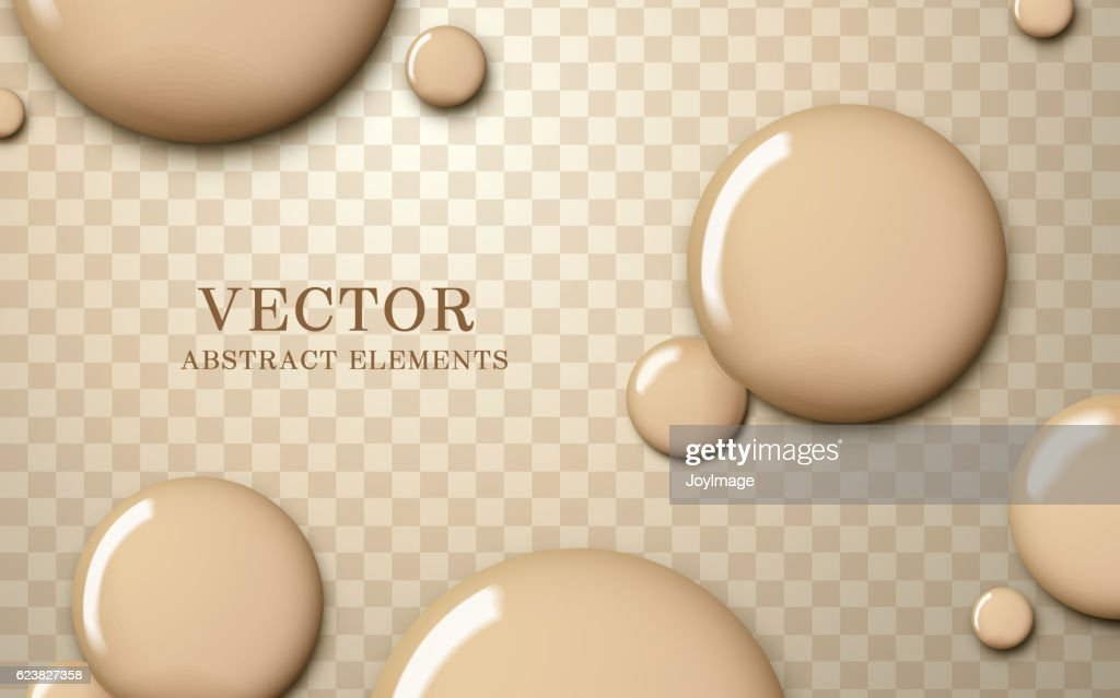 Attractive foundation texture