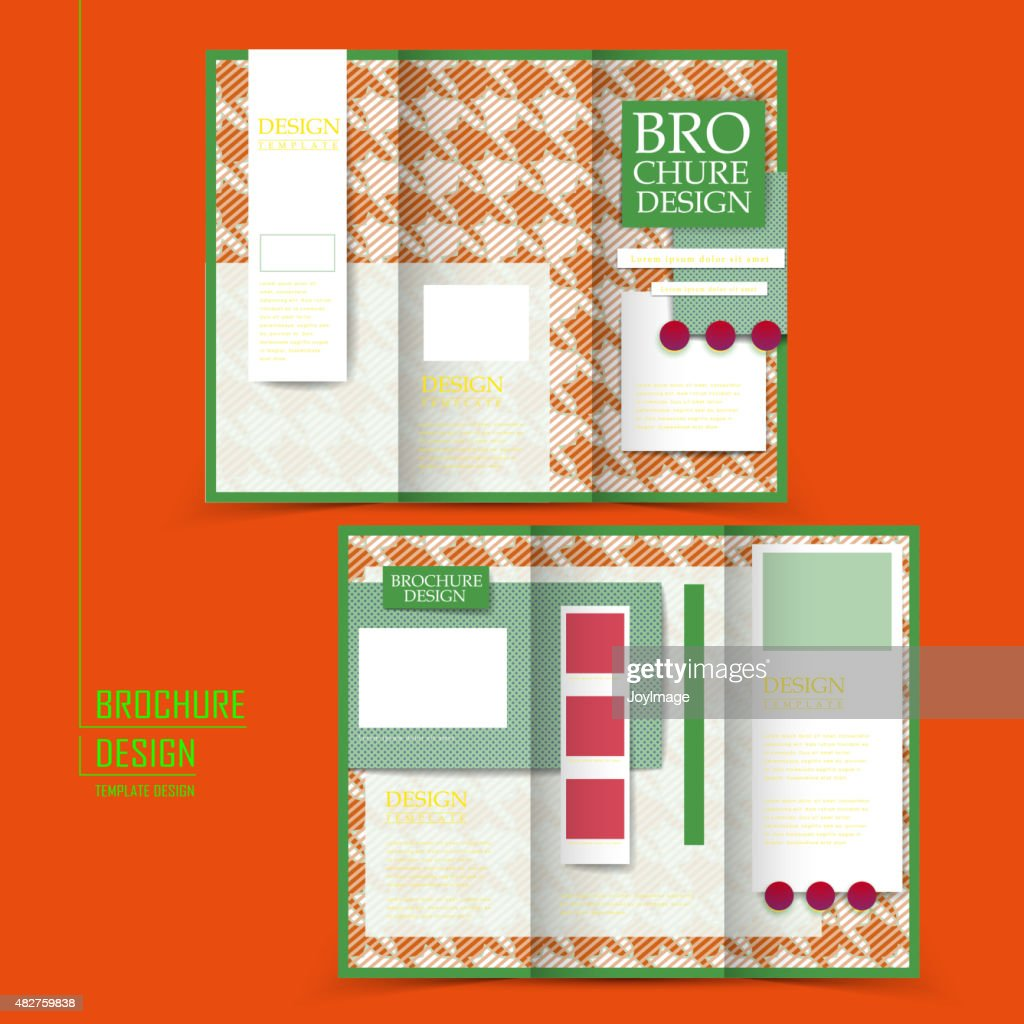 attractive trifold brochure design vector art getty images