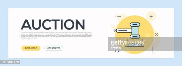 Auction Concept - Flat Line Web Banner