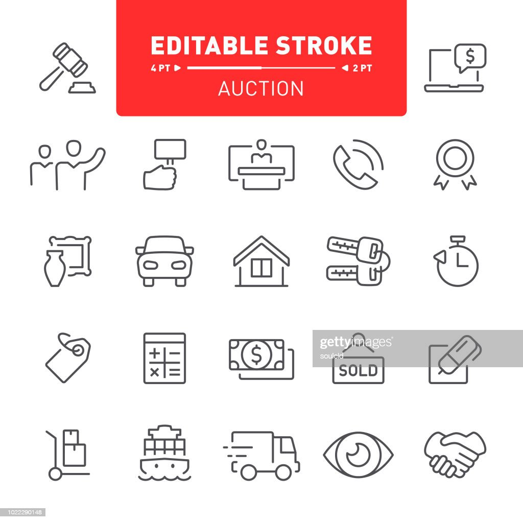 Auction Icons : stock illustration