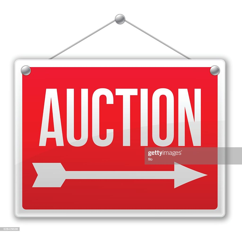 Auction Sign : stock illustration