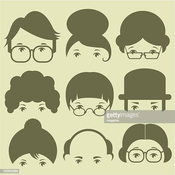 audience. - wig stock illustrations