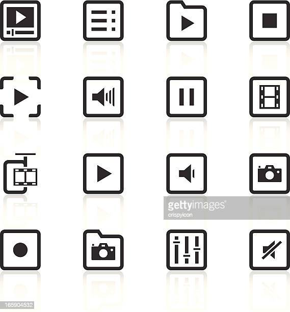 Audio and video themed icon set