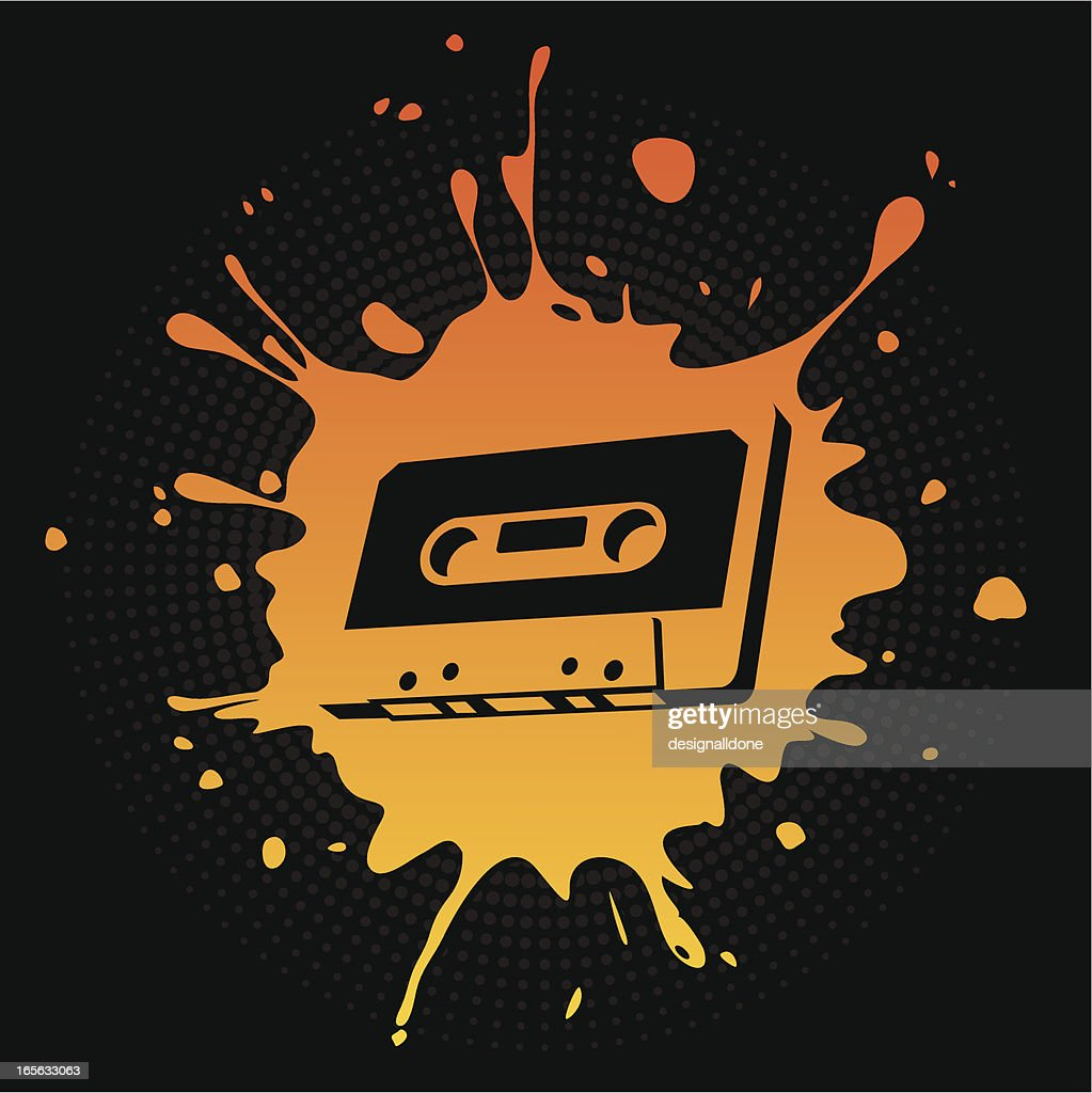 Audio Cassette Splat