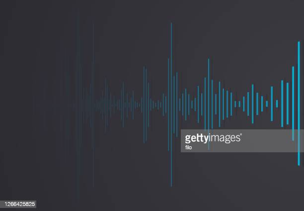 audio clip abstract - podcasting stock illustrations