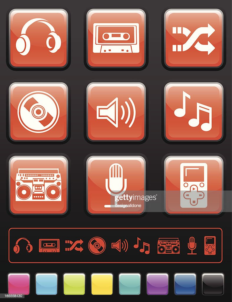 Audio Icon Set : Stock Illustration