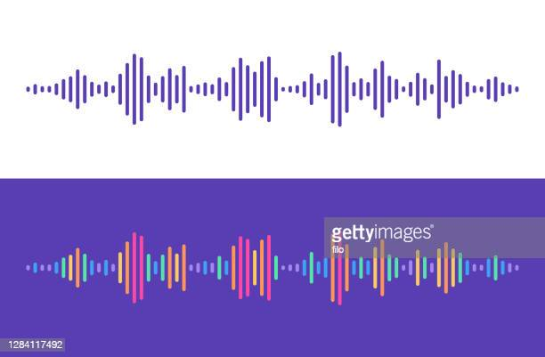 illustrazioni stock, clip art, cartoni animati e icone di tendenza di linee livelli audio - hi fi