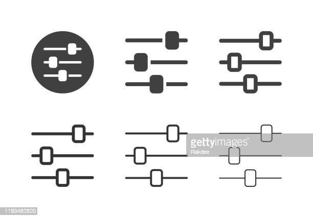 audio mixer icons - multi series - songwriter stock illustrations