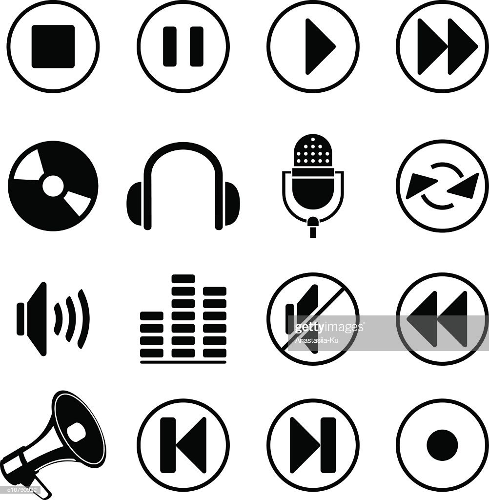 audio music icons
