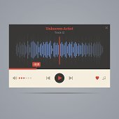 Audio player with equalizer.