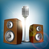 Audio speakers and a microphone