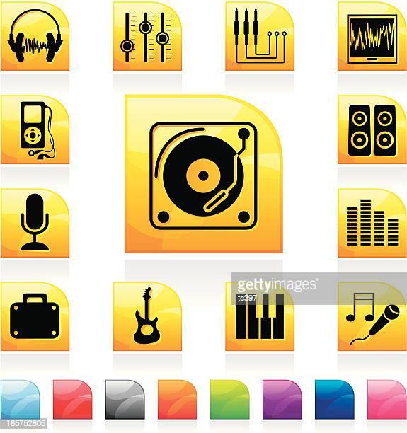audio studio icons - video editing stock illustrations, clip art, cartoons, & icons