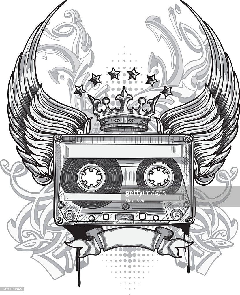 Audio tape emblem