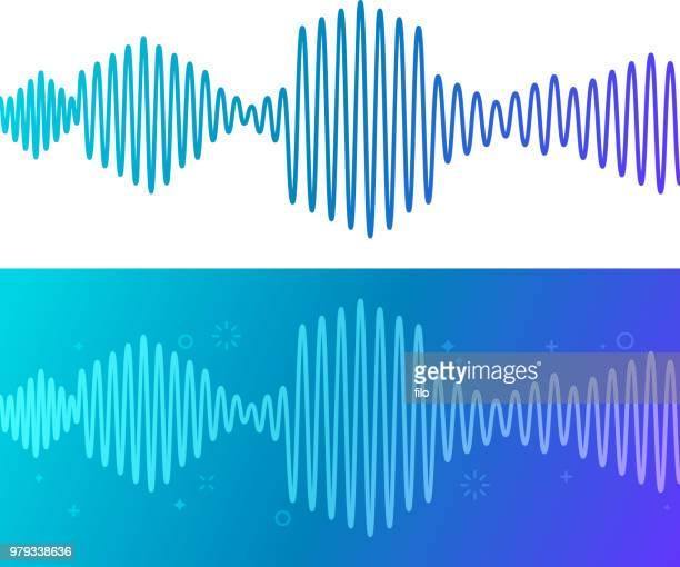 illustrazioni stock, clip art, cartoni animati e icone di tendenza di onde traccia audio - gol di pareggio