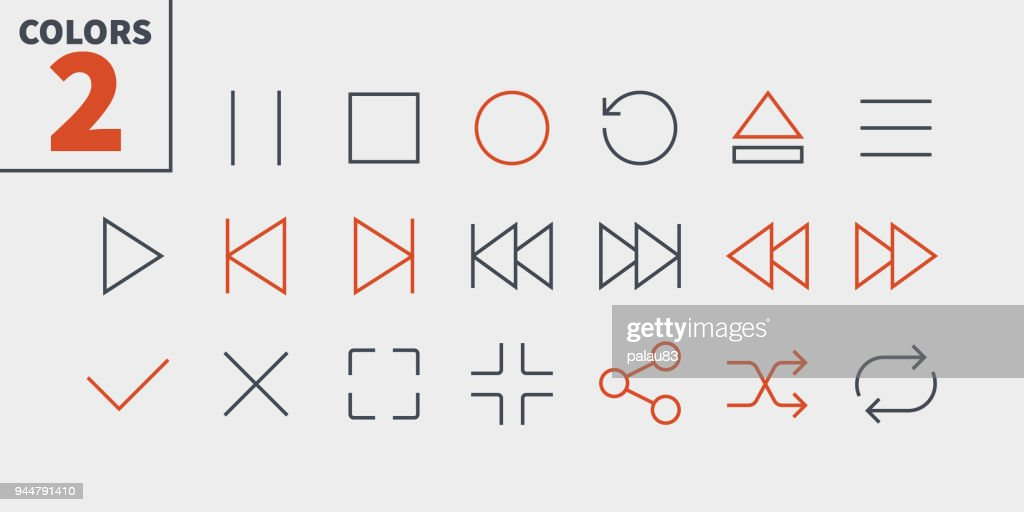 Audio Video Pixel Perfect Well-crafted Vector Thin Line Icons 48x48 Ready for 24x24 Grid for Web Graphics and Apps with Editable Stroke. Simple Minimal Pictogram Part 1