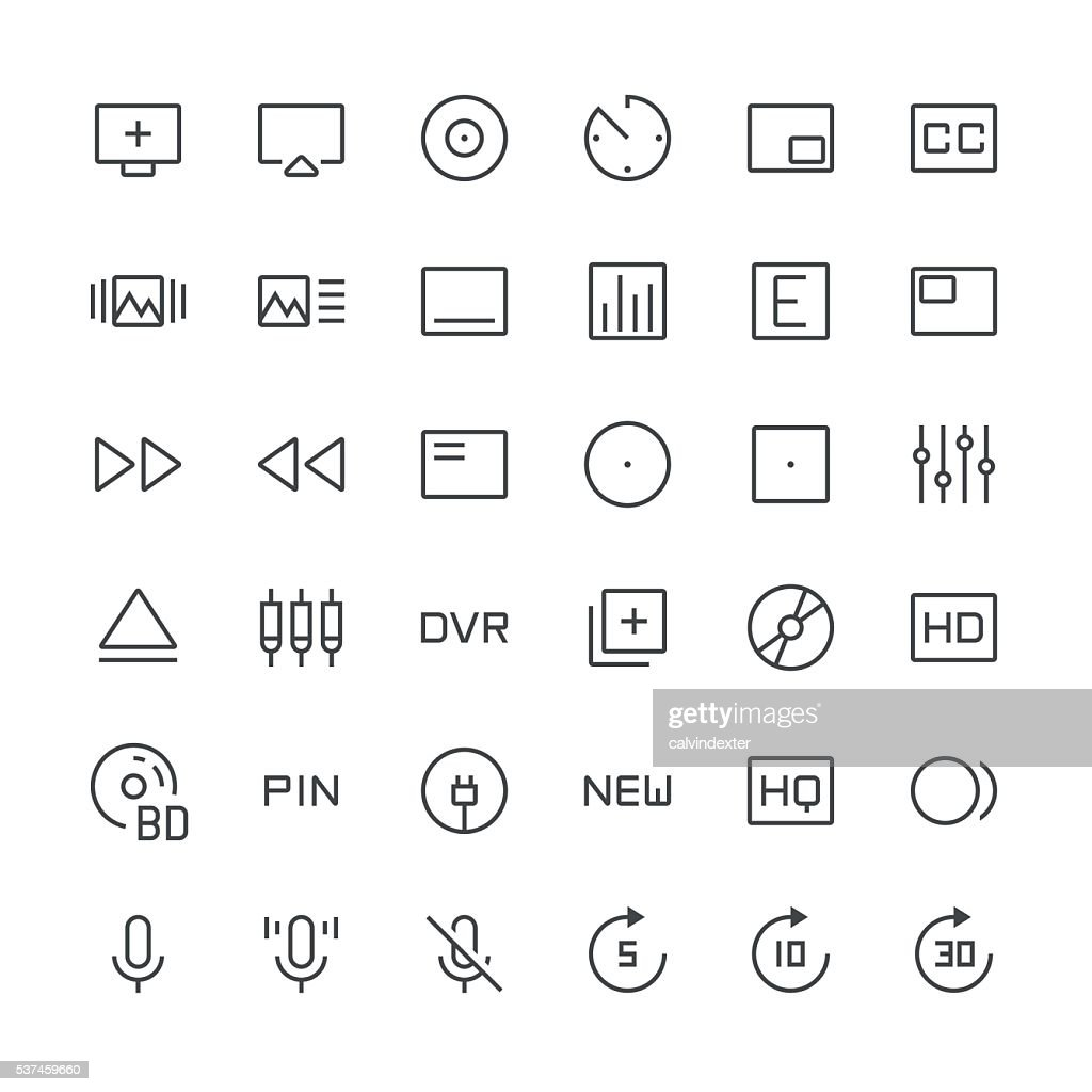 Audio Visual icons set 1 | Thin Line series