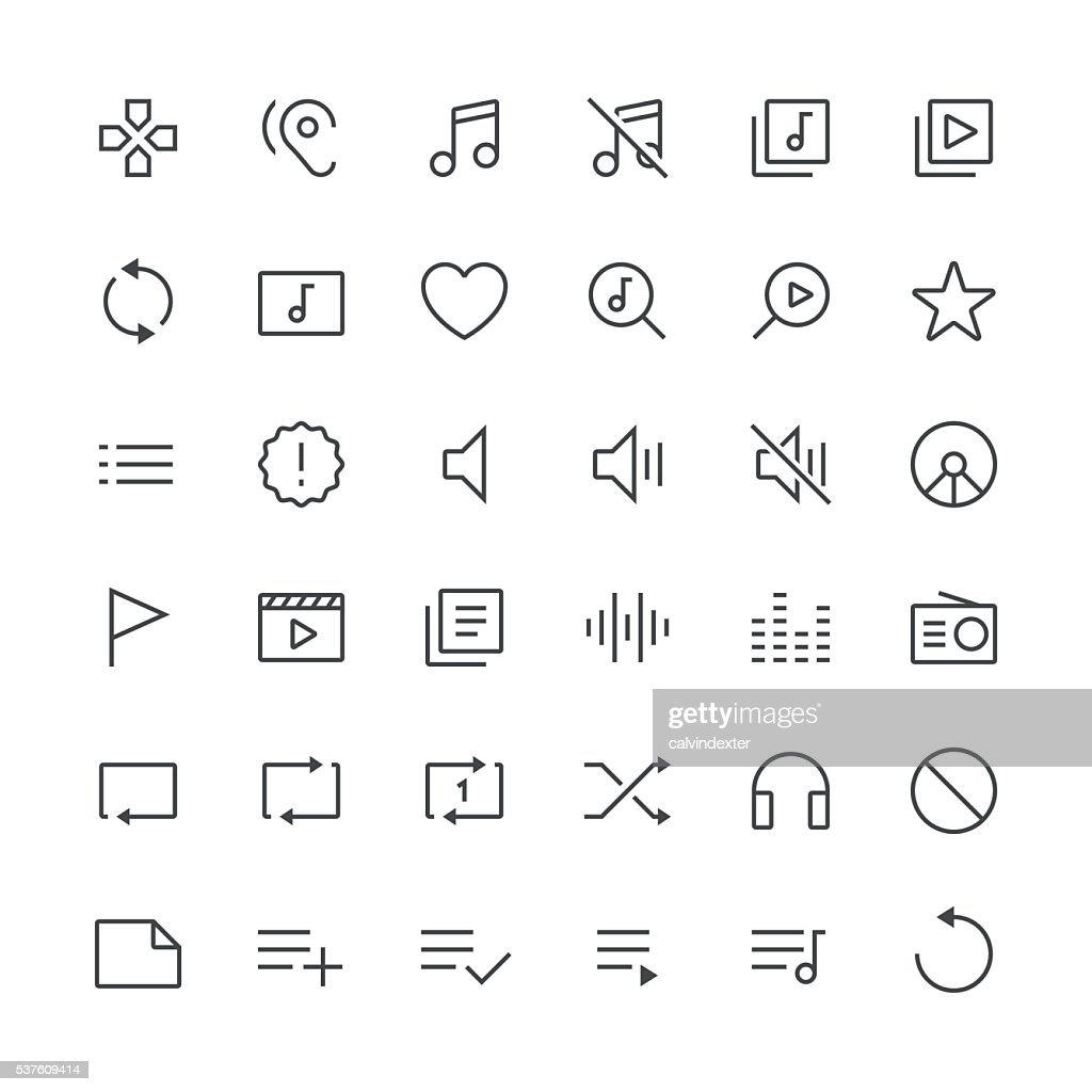 Audio Visual icons set 2 | Thin Line serie : stock illustration
