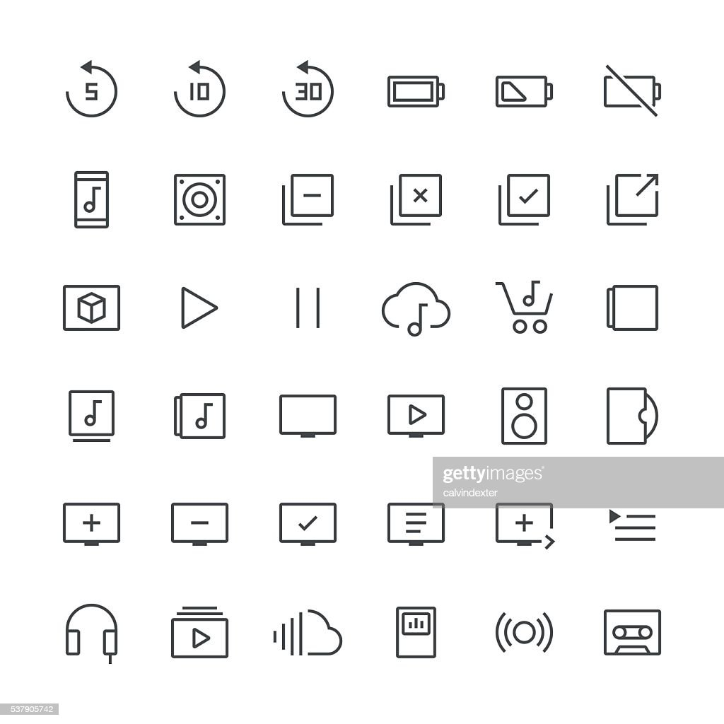 Audio Visual icons set 3 | Thin Line series